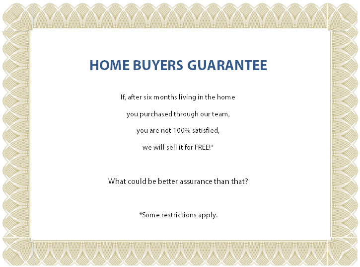 Home Buyers Guarantee Graphic