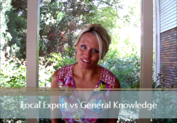 Local Expert vs General Knowledge of Area
