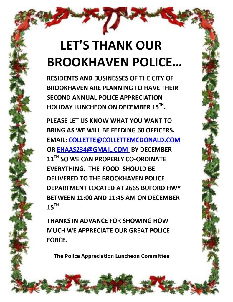 Brookhaven Police Holiday Luncheon 2015 Citizen