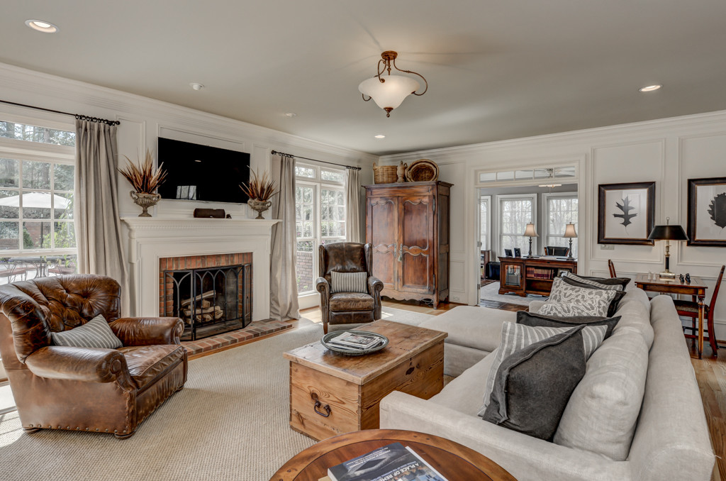 Sandy Springs Real Estate Listing - Family Room and Sunroom