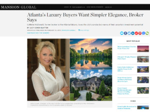 Mansion Global Article - Atlanta Realtor Collette McDonald