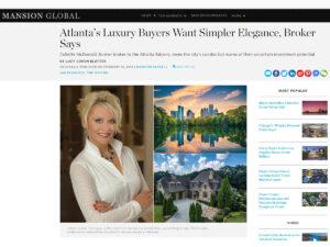 Mansion Global Article - Atlanta Realtor Collette McDonald