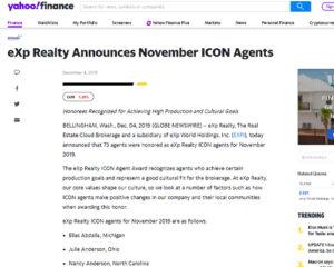 eXp Realty Announces November ICON Agents - Collette McDonald