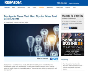 Top Agents Share Their Best Tips for Other Real Estate Agents